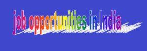 jobs opportunities IN INDIA