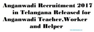 Anganwadi Recruitment 2017 in Telangana Released for Anganwadi Teacher,Worker and Helper