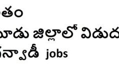 Anganwadi jobs in Telangana