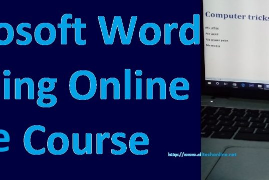 Microsoft Word Training Online Free Course