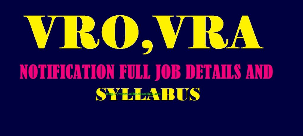 VRA VRO Apply Online EXAM PATTERN SYLLABUS