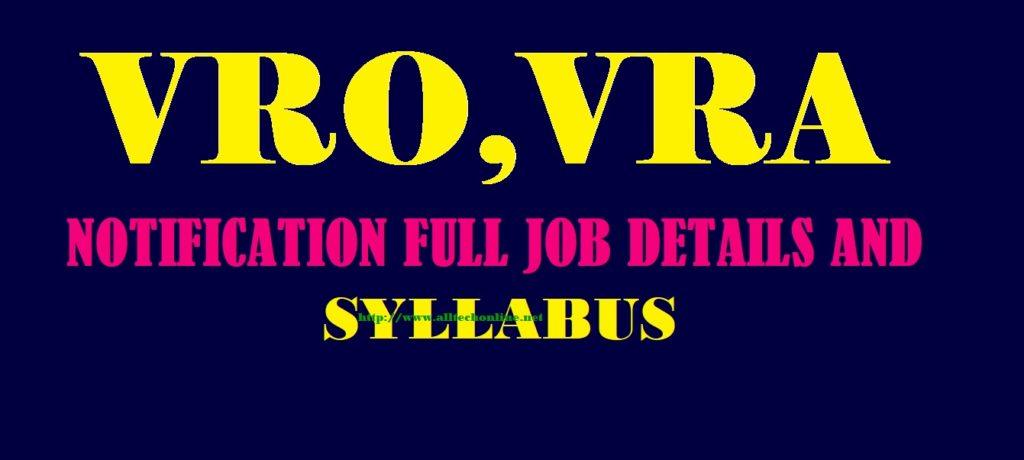 VRA VRO Apply Online EXAM PATTERN SYLLABUS