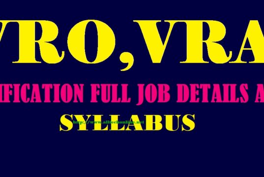 VRA VRO Jobs Apply Online EXAM PATTERN SYLLABUS