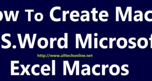 Creating Macro In M.S. Word Macro Recorder