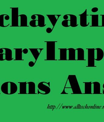 Panchayatiraj Secretary 8 Important Questions Answers