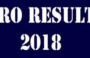 VRO RESULTS 2018 TELANGANA