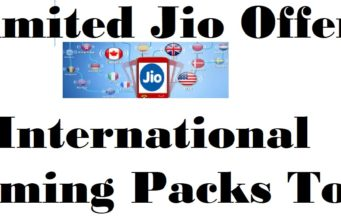 Unlimited Jio Offers Today international roaming packs today
