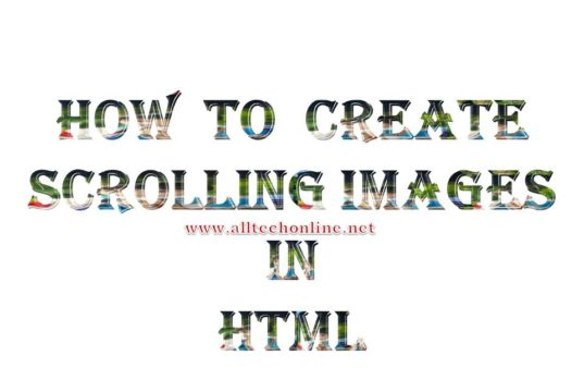 html to create scroll images
