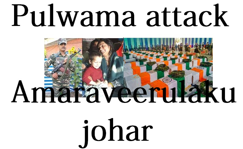pulwama attack Amaraveerulaku johar