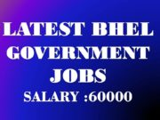 BHEL Government Jobs in 2019 May