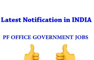 PF Office Jobs Latest Notification in Telugu