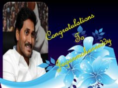 Congratulations to ysr jaganmohanreddy cm of ap