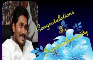 Congratulations to ysr jaganmohanreddy cm of ap