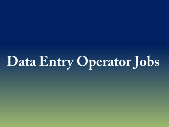Data Entry Operator Jobs Government hospital