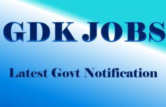 GDK Jobs Latest Govt Notification
