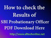 SBI Probationary Officer Jobs Results