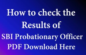 SBI Probationary Officer Jobs Results