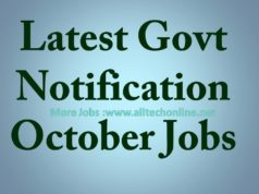 Latest Govt Notification October Jobs