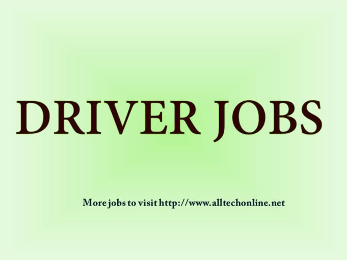 Latest Notification Driver Jobs 2019