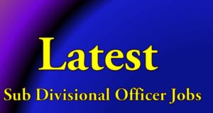 Latest Sub Divisional Officer Job Telugu