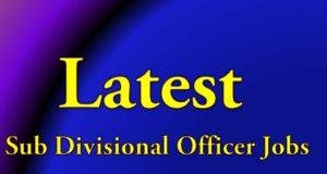 Latest Sub Divisional Officer Job Telugu