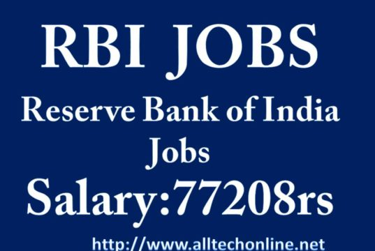 RBI Reserve Bank OF India Jobs India