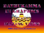 Bathukamma Making in Computer simple