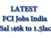 Food Corporation of India Jobs