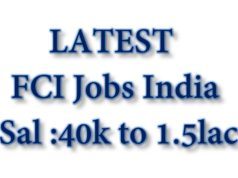 Food Corporation of India Jobs