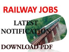 Railway Recruitment Latest Notification Jobs