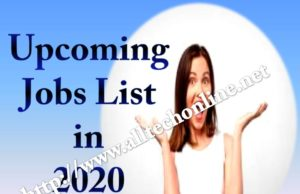 Upcoming Lakhs Jobs List in 2020