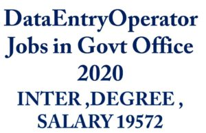 DataEntryOperator Jobs in Govt Office 2020