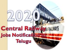 Railway Jobs Notification In Telugu