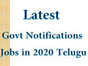 Latest Govt Notifications Jobs in 2020 Telugu