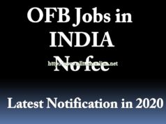 OFB Recruitment in 2020 Telugu