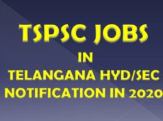 TSPSC JOBS IN TELANGANA HYD/SEC NOTIFICATION IN 2020