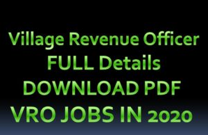 VRO JOBS IN TELUGU 2020 PDF