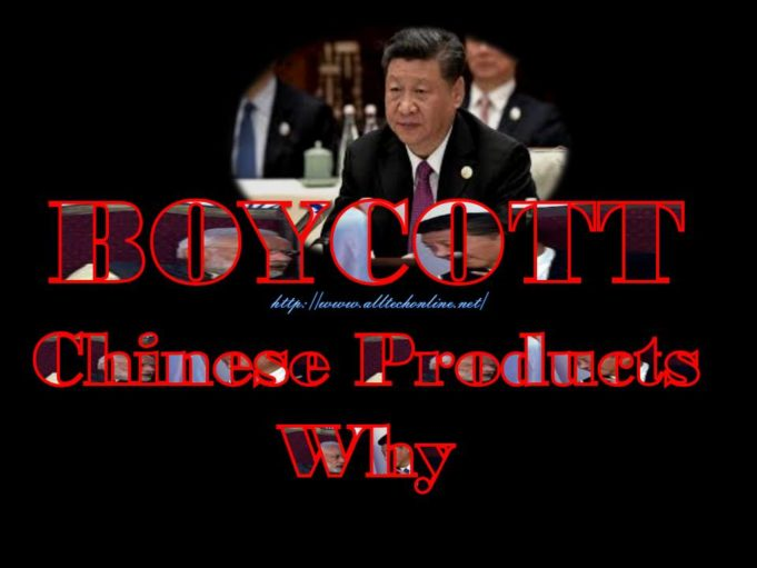 BOYCOTT Chinese Products Why