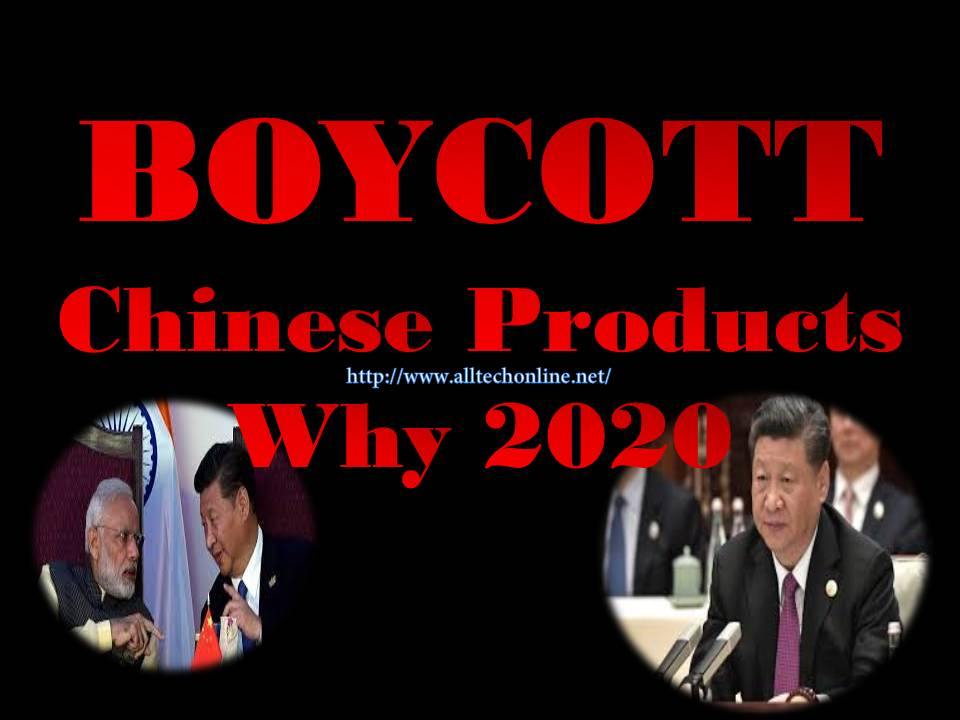 BOYCOTT Chinese Products 2020 why