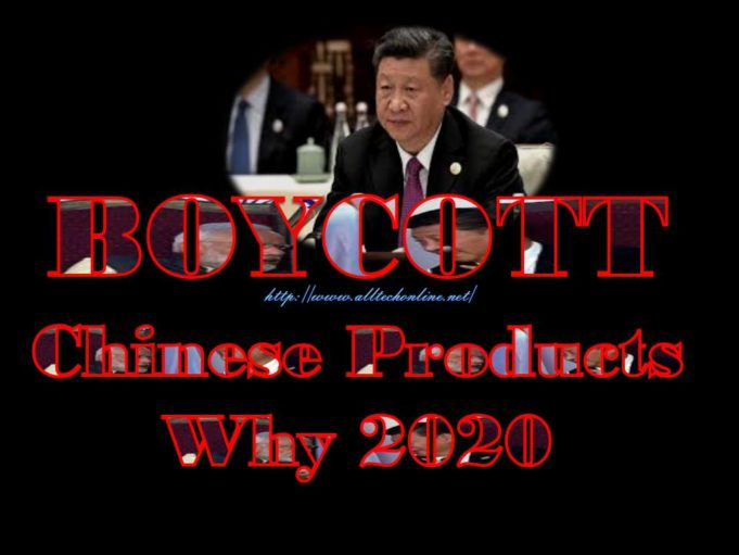 BOYCOTT Chinese Products Why 2020