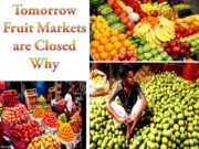Tomorrow Fruit Markets are Closed Why