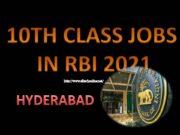 10TH CLASS JOBS IN RBI 2021