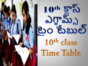 10TH Class Time Table Released in 2021
