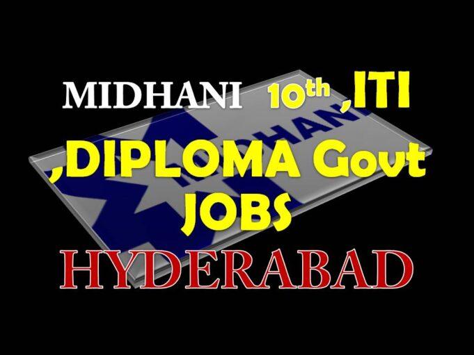 Midhani MDNL Jobs in Hyderabad
