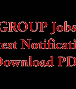 GROUP-C Jobs Latest Notification Download PDF