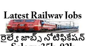 Latest Railway Jobs Notification 2021