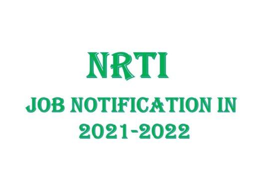 NRTI Job Notification In 20212021