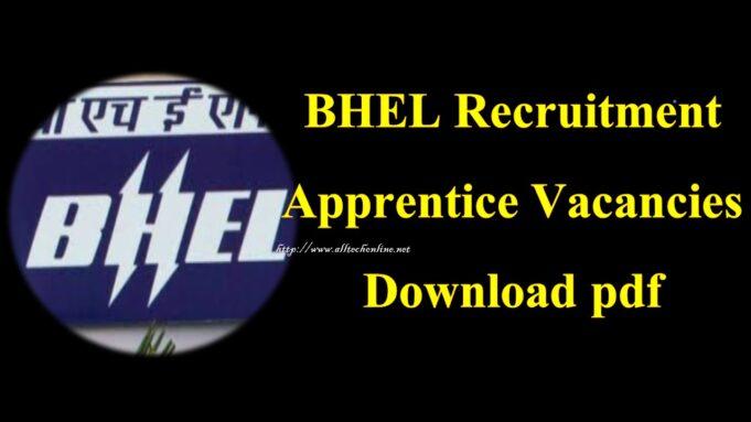BHEL Recruitment Apprentice Vacancies