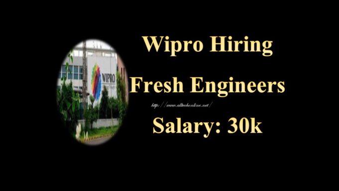 Wipro Hiring Fresh Engineers in September