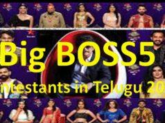 Big BOSS5 Contestants in Telugu 2021